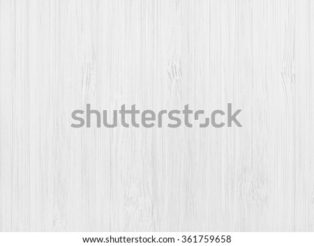 White Wood Background, Top View - stock photo