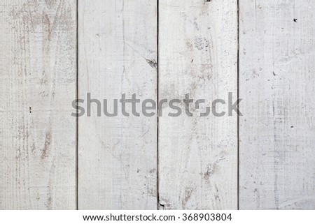 White wood board texture background - stock photo