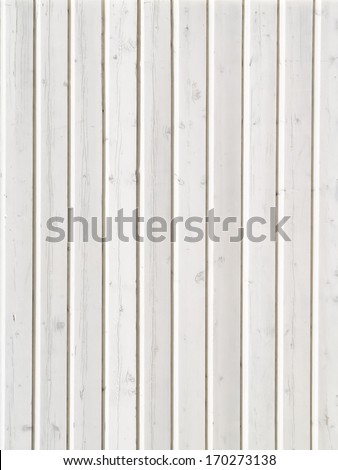 White wood for background or texture - stock photo
