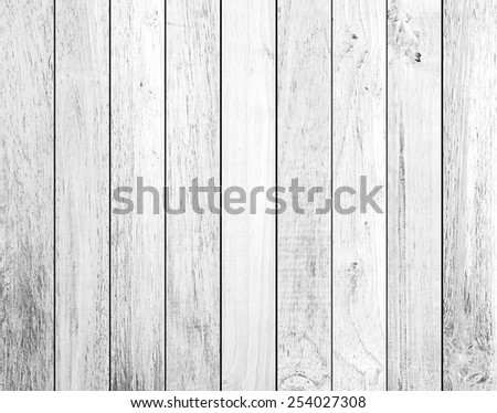 white Wood plank brown - stock photo