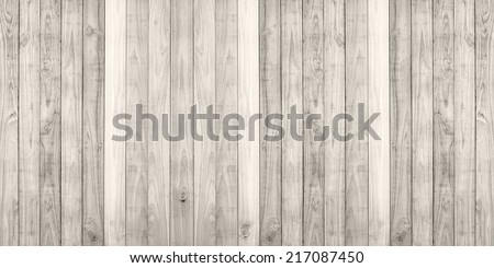 White wood plank wall texture background panorama - stock photo