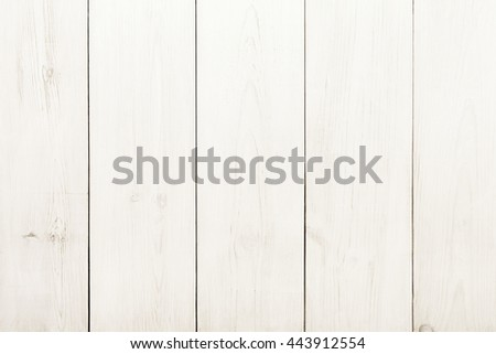 White wood table texture and background. White painted wood texture background. Rustic, shabby chick wooden background. Aged wood planks pattern. Wooden surface. Vertical timber texture - stock photo