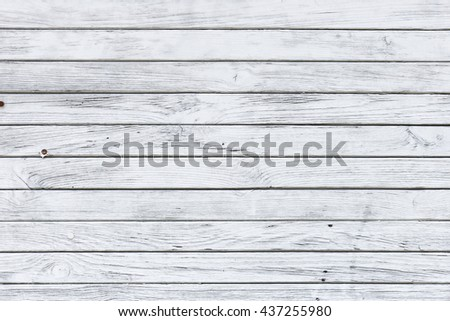 White wood texture with natural patterns background - stock photo