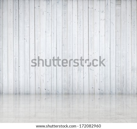 White wood wall - stock photo