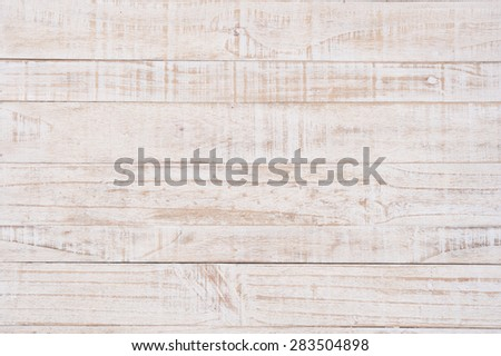 White Wood Wall For text and background - stock photo