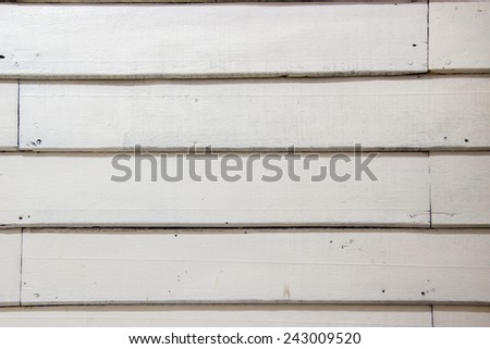 White wood wall : texture / background : Thai house old style - stock photo