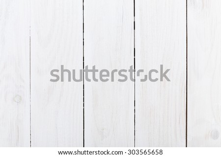 White wooden background