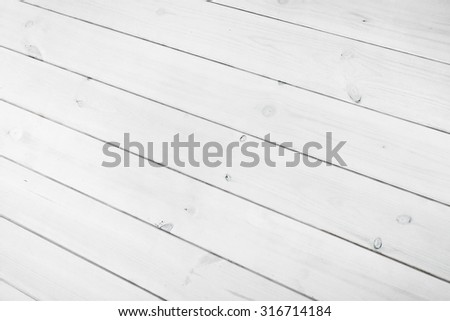 White wooden boards can use as background - stock photo