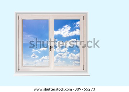 white wooden double door window