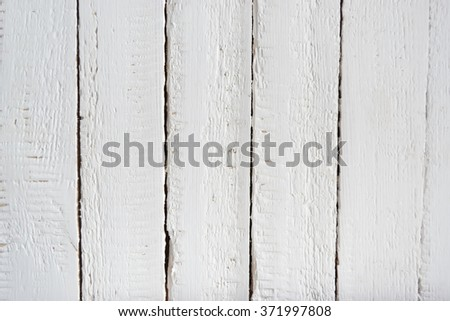 White wooden painted background - stock photo