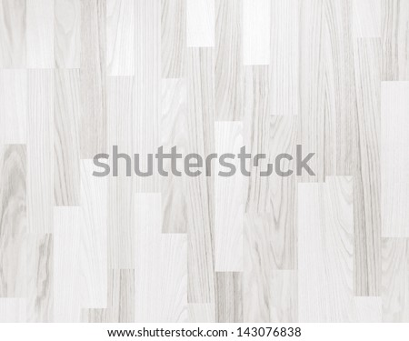 White wooden parquet flooring texture. Horizontal seamless wooden background. - stock photo