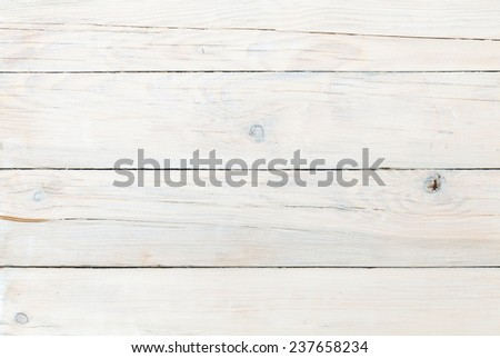 White wooden plank texture background - stock photo