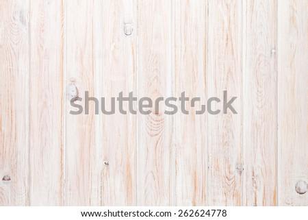 White wooden plank texture background - stock photo
