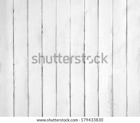 White wooden plank texture or background - stock photo