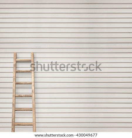 white wooden plank wall with ladder background