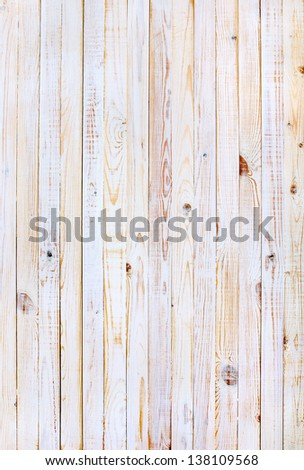 White Wooden Planks in the Row, background - stock photo