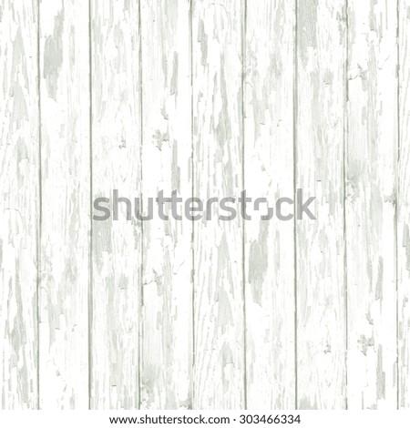 white wooden texture, grunge seamless background - stock photo