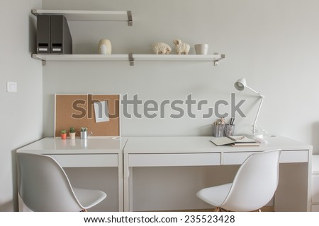 White working space.