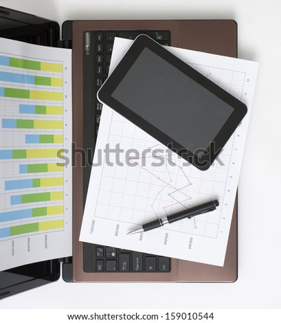 White Worktable in the Office - stock photo