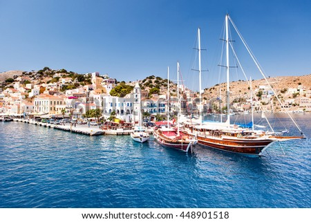 white yachts in the marina. - stock photo