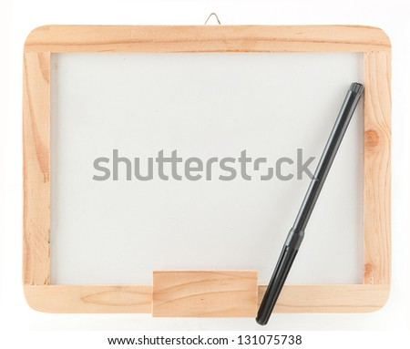 Whiteboard and pen - stock photo