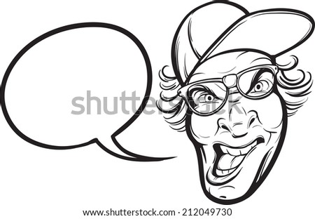 Nervous cartoon face stock vector 95538046 shutterstock whiteboard drawing angry geek with glasses ccuart Choice Image