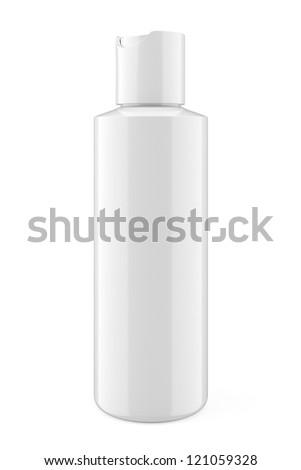 whitebottle  isolted on white - stock photo