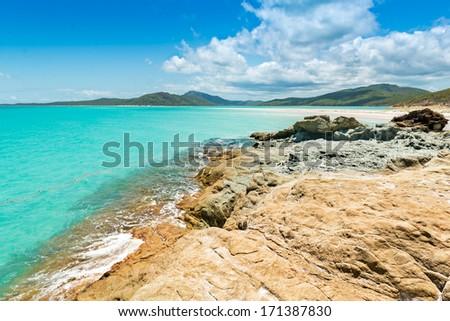 Whitehaven, Whitsundays - Australia - stock photo
