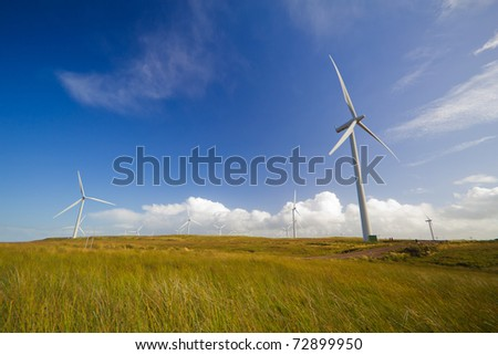Whitelee Wind Farm, Largest European Wind Farm - stock photo