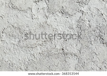 Whitewashed clay wall. Background texture. - stock photo