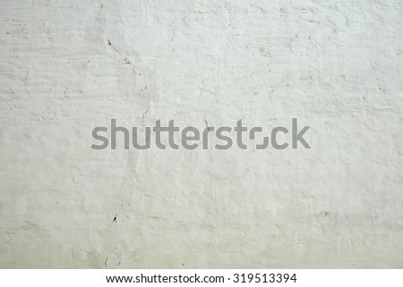 Whitewashed Old Brick Wall Uneven Bumpy Rough Rustic Background Texture Closeup With Copy Space