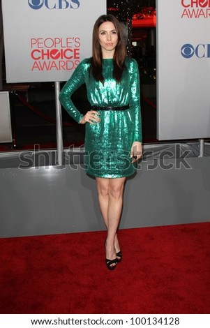 Whitney Cummings at the 2012 People's Choice Awards Arrivals, Nokia Theatre. Los Angeles, CA 01-11-12 - stock photo