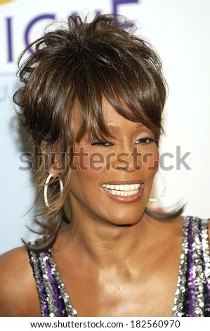 Whitney Houston at Clive Davis Pre-Grammy Party, Beverly Hilton Hotel, Los Angeles, CA, February 09, 2008 - stock photo