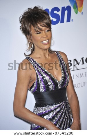 Whitney Houston at music mogul Clive Davis' annual pre-Grammy party at the Beverly Hilton Hotel. February 9, 2008  Los Angeles, CA Picture: Paul Smith / Featureflash - stock photo