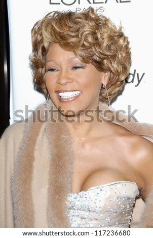 Whitney Houston at the 2007 Clive Davis Pre-Grammy Awards Party. Beverly Hilton Hotel, Beverly Hills, CA. 02-10-07 - stock photo