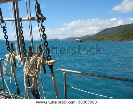 Whitsunday sailing trip - stock photo