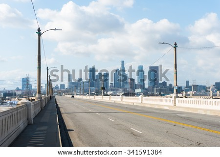 Whittier bridge - stock photo