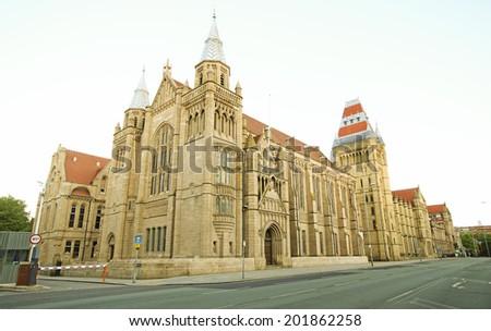 Whitworth Building, Manchester University, England, UK - stock photo