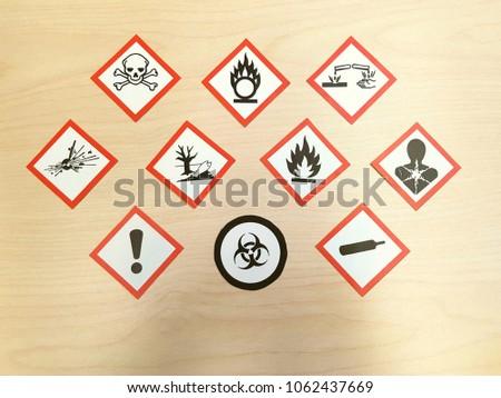 Whmis Hazard Symbol Pictogram Chemical Hazards Stock Photo Image
