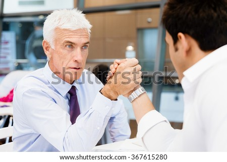 Who is the leader - stock photo
