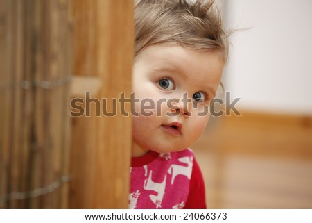 who's hiding? - stock photo