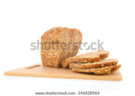 Whole bread with oat meal - stock photo