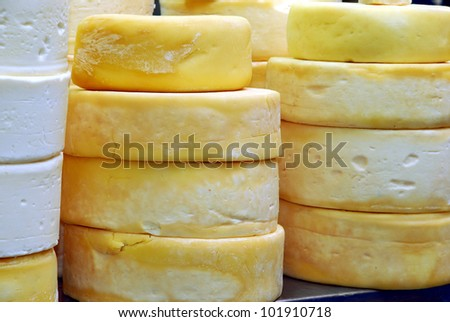 whole cheese - stock photo