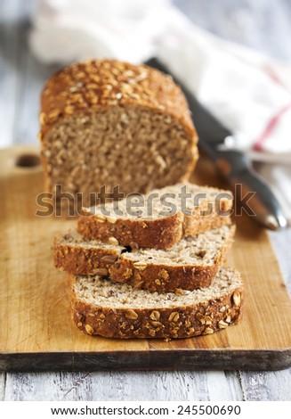 Whole Grain Bread - stock photo