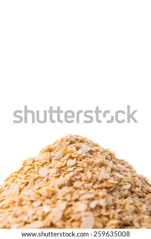 Whole grain breakfast cereal over white background - stock photo