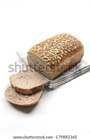 whole grain sliced bread - stock photo