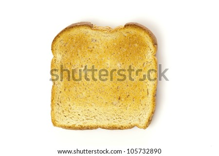 Whole Grain Toast on a background for breakfast - stock photo