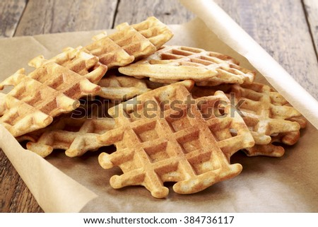 Whole grain waffles.