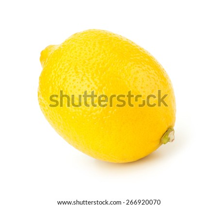Whole Lemons isolated on white background