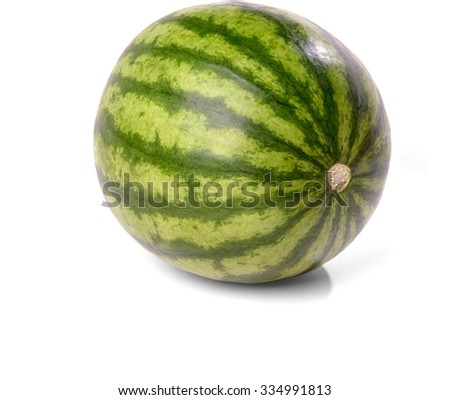 Whole Ripe Watermelon - Isolated